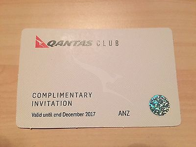 Qantas Club Lounge Pass Invitation Valid Until the end of December 2017