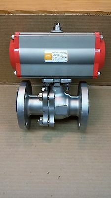 "RFS 1-1/2"" Ball Valve with Pneumatic Actuator     Free Shipping"