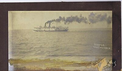 Great Lakes steamship cabinet photograph early 1900s Lake Ontario