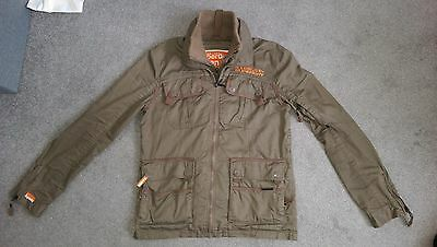 Superdry Mens Khaki Jacket Size Xl In Very Good Condition
