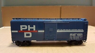 Athearn 40' Box Car Ho Scale St Clair Blue Water Route Excellent Vintage