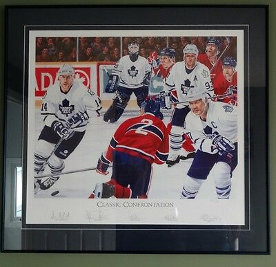 """""""Classic Confrontation"""" Limited Edition Print (R.Stanley) Toronto Maple Leafs"""