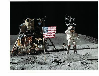 Apollo 16 Astronaut John Young Signed Photo