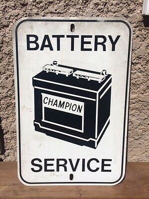Champion Battery Tin Sign