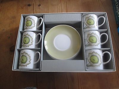 Susie Cooper  Sunflower 6 Coffee Cups And Saucers Set