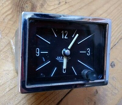 Jaeger Rectanglular Classic Car Clock - 12 Volt Vintage Dashboard Analogue Gauge