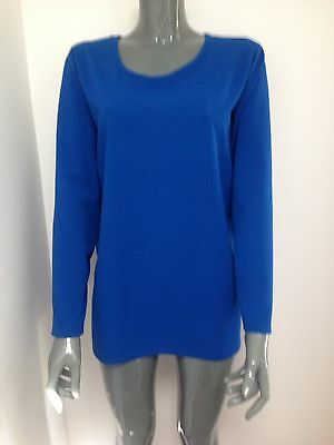 Ladies  long sleeve royal blue long top one size