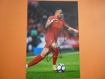 Liverpool Nathaniel Clyne hand signed photo 12x8