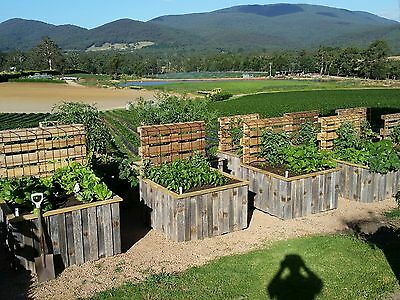 raised veggie / herb garden bed planter box apple crate