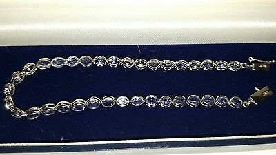 9ct White Gold and Tanzanite bracelet