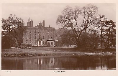 Elford Hall, Lost Country House, Staffordshire. Rp, C1920.