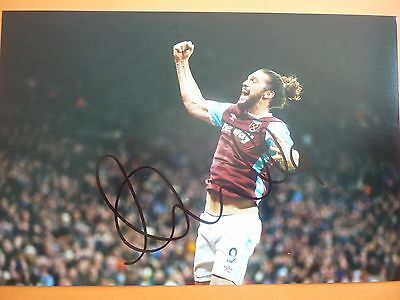 West Ham Andy Carroll hand signed photo 12x8