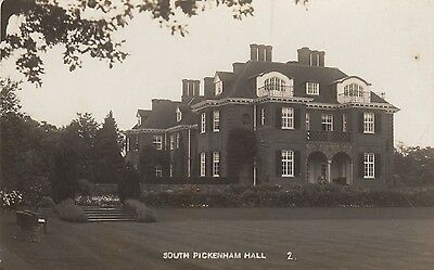 South Pickenham Hall, Country House, Nr Swaffham, Norfolk. Rp, C1920.