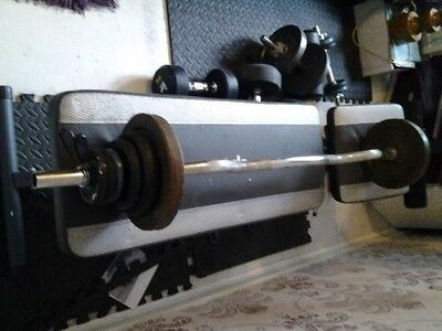 weights including bar and maximuscle work bench bench