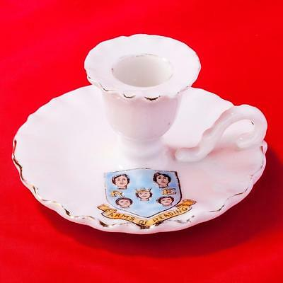 Gemma Czechoslavakia Crested China Candle Holder with Reading Crest