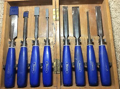 Set of 8 Marples Hand Forged Chisels - Made in Sheffield, England Vintage