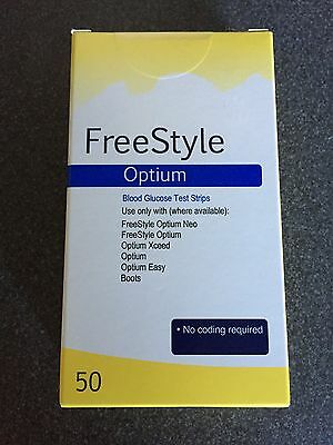 Freestyle Optium Blood Glucose Test Strips 2 Packs Of 50 RRP £32 Each