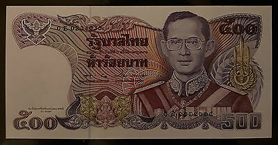 Thailand Banknote 500 Baht Series 13 King Rama IX Comm 90th Mother Princess UNC.