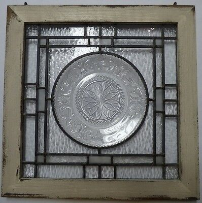 clear Anchor hocking plate stained glass window 2