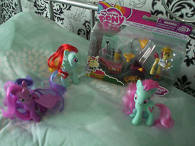 My Little Pony G4 lot Mrs Cake, Princess Twilight, Rainbow & Super Squeezy 6000