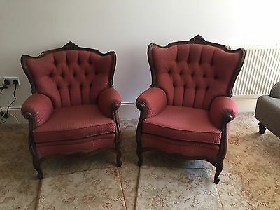 Antique set of two (Ladies & Gents) Chairs (Late 19th / early 20th Century)