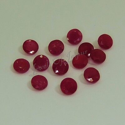 4mm Natural Ruby Round Faceted Cut AA Quality Loose Gemstone Wholesale Lot Sale