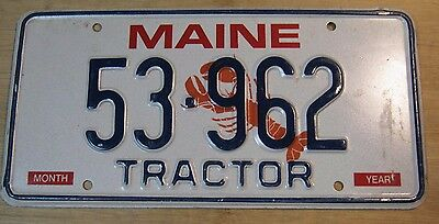 1999 Maine Lobster Tractor License Plate Expired 53 962