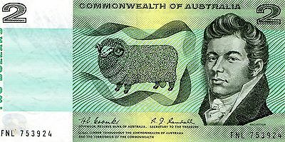 1967 Coombs Randall R82 Commonwealth Two Dollar $2 note FNL prefix