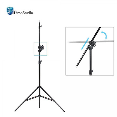 LimoStudio 10ft Two Way Tripod Boom Light Stand for Photo Photography Video