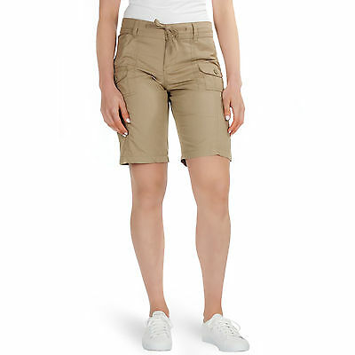 New Ladies Cargo Shorts Womens Summer High Waisted Cotton Casual Combat Pants