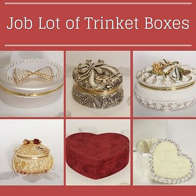 SHOP CLEARANCE. 50 x Mixed Trinket boxes. Job Lot. Must Go. Jewellery box