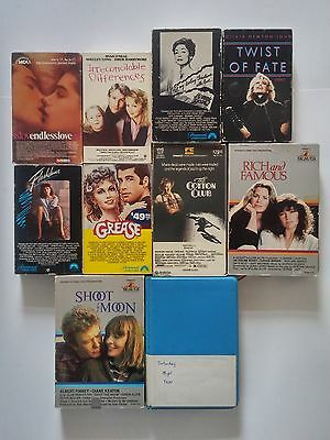 10 Beta Lot (NOT VHS) Grease Flashdance Saturday Night Fever Cotton Club