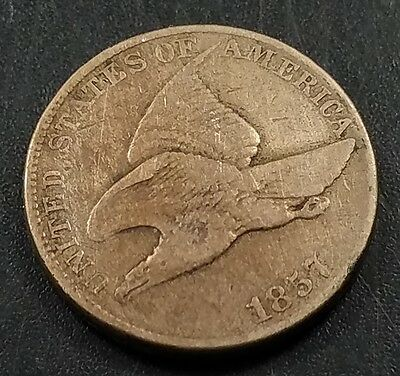1857 Flying Eagle Cent! Plenty of sharpness!