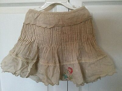 Pretty cotton frill layered skirt flower embroidered Mamas & Papas 12-24 months