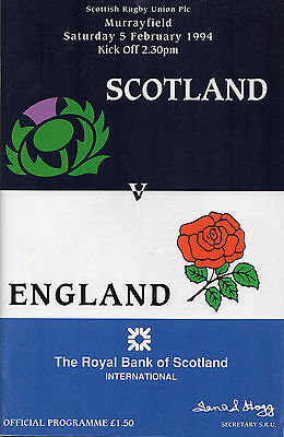 Three Scotland Rugby programmes Murrayfield 1994 England France South Africa