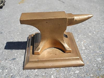 Vintage Solid Brass Anvil Jewelry Tool 7/8 Pound Paper Weight