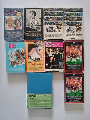 10 Beta Lot (NOT VHS) The Great Escape Alien Butch Cassidy River Kwai