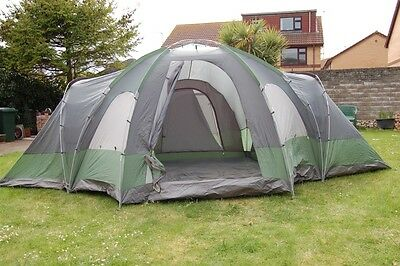 Outwell Hartford XL Green / Grey 8 Person Dome tent