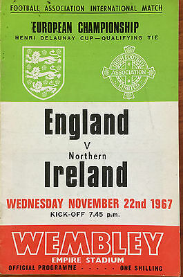 International England V N. Ireland Nov 22Nd 1967 Wembley