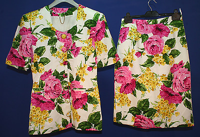 Amazing Vintage 1980's Hamells Size 12 Floral Tailored Suit, in great condition