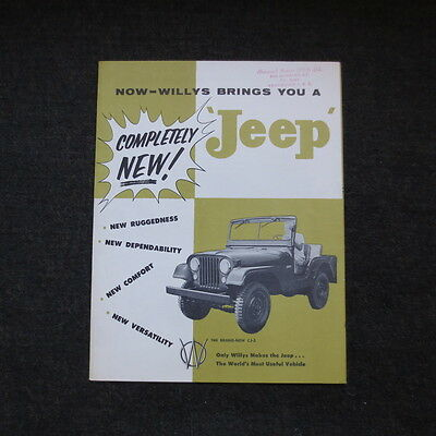 Willys Jeep fold out brochure vintage nice