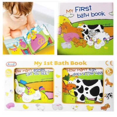 Baby My 1st Bath Book Waterproof Toddler Floating Toy Play Educational Learn PVC