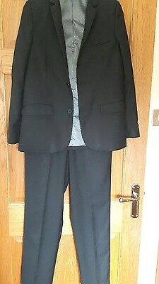 Marks and spencer boys black suit age 13 years