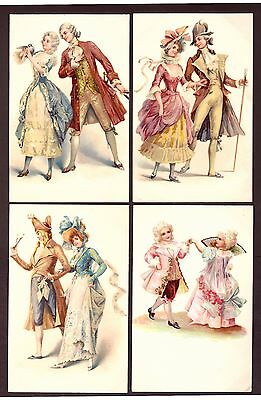 Postcards: (4) Fashion - Published by Walter G. Wheeler - 1930's Fine condition.
