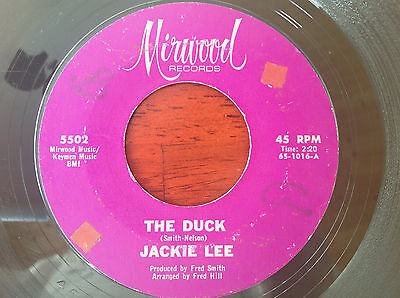 JACKIE LEE - THE DUCK / LET YOUR CONSCIENCE.. Mod Northern Soul RnB 45 7""