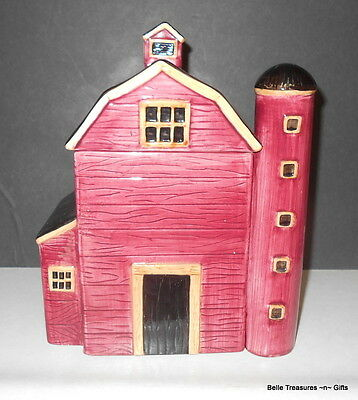 Red Barn & Cilo Kitchen Canister Cookie Jar