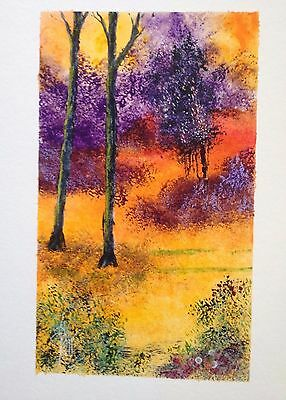`The Hidden Meadow` c 1960 Original Signed Painting in a Mixed Medium.