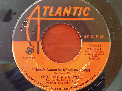 Archie Bell & The Drells - There's Gonna Be A Showdown. Mod Northern Soul RnB 7""
