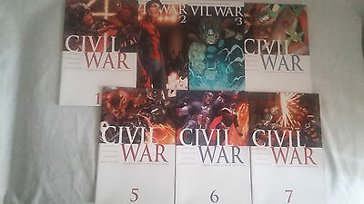 Civil War 2006 complete #1 #2 #3 #4 #5 #6 #7 Fine to VF (issues variant 2b 3d)