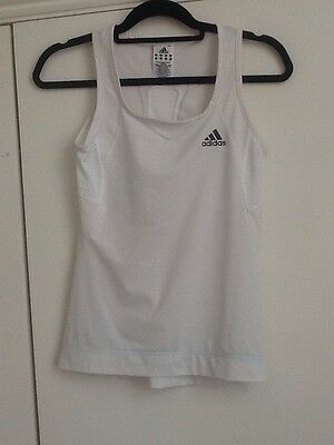 Small Women's/girl's Adidas Racquet Sports/fitness Top - Size 8 - White